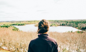 Stillness woman field